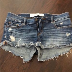 Abercrombie and Fitch distressed jean shorts